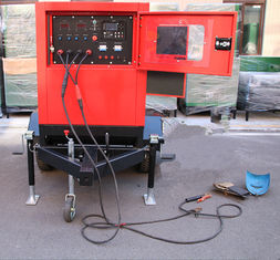 Perkins Engine Diesel Welder Generator 10A - 500A DC Current MMA / TIG Mobile Trailer Type