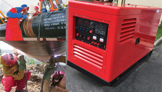 400A 500Amp Arc Portable Welder Generator , Engine Driven Welder Generator Energy Saving